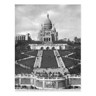 Postal Basílica de Sacre-Coeur, Montmartre, 1876-1910