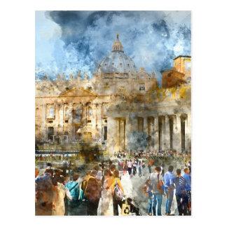 Postal Basílica Vatican de St Peters en Roma Italia
