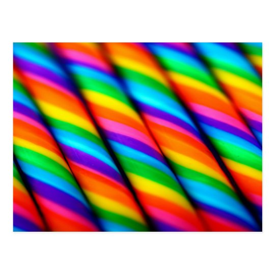 Postal Bastones de caramelo del arco iris 2