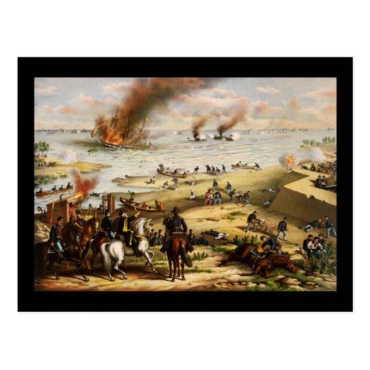 Postal Batalla de Hampton Roads