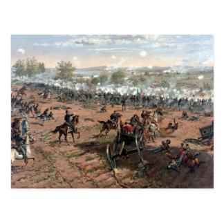 Postal Batalla de la pintura de Gettysburg (restaurado)