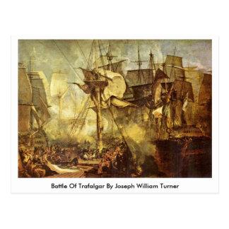 Postal Batalla de Trafalgar de José Guillermo Turner