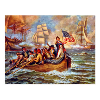 Postal Batalla del lago Erie