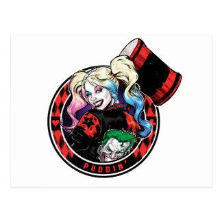 Postal Batman el | Harley Quinn que guiña con el mazo