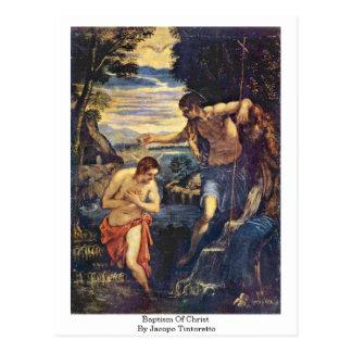 Postal Bautismo de Cristo de Jacopo Tintoretto