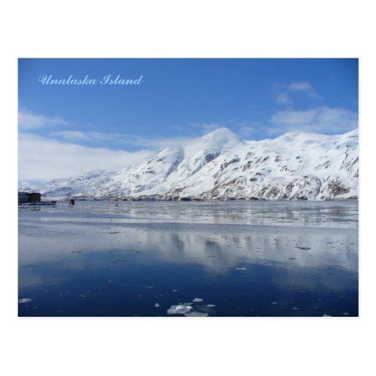 Postal Bay en invierno, isla de capitán de Unalaska
