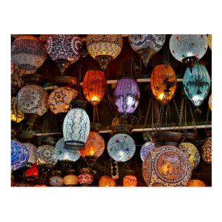 Postal Bazar magnífico en Estambul, Turquía