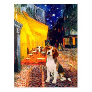 Postal Beagle1 - Café de la terraza