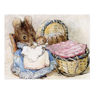 Postal Beatrix Potter, libros de la historia de los