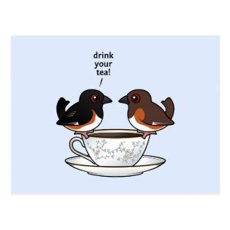 Postal ¡Beba su té!