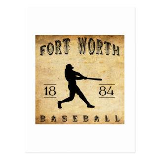 Postal Béisbol 1884 de Fort Worth Tejas