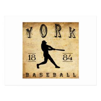 Postal Béisbol 1884 de York Pennsylvania