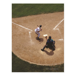 Postal Béisbol en la meta