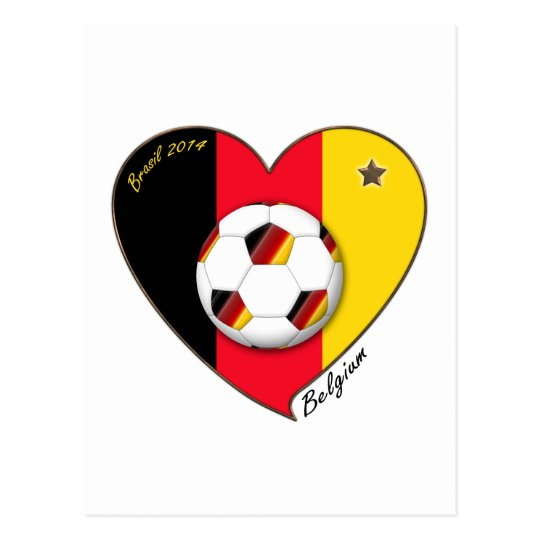 "Postal ""BELGIUM"" Soccer 2014. Fútbol de Bélgica"
