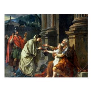 Postal Belisarius que pide limosnas, 1781
