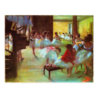Postal Bella arte colorida de la bailarina de Edgar Degas