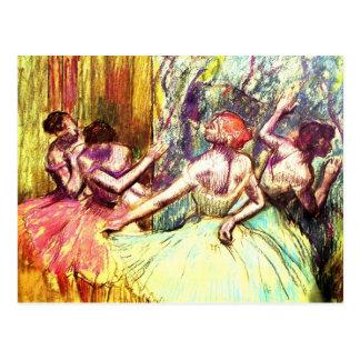 Postal Bella arte de la bailarina de Edgar Degas