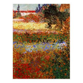 Postal Bella arte de Van Gogh del jardín floreciente