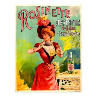 Postal Bella arte subió ajenjo del vintage de Rosinette