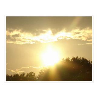 Postal Belleza en una salida del sol