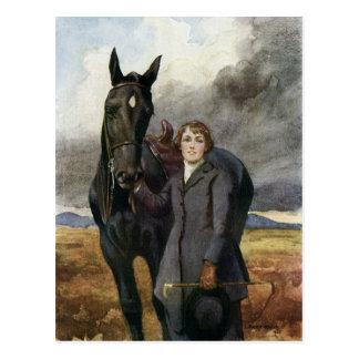 Postal Belleza negra - ella me eligió para su caballo