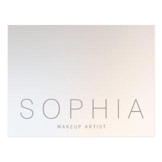 Postal Belleza profesional minimalista moderna elegante