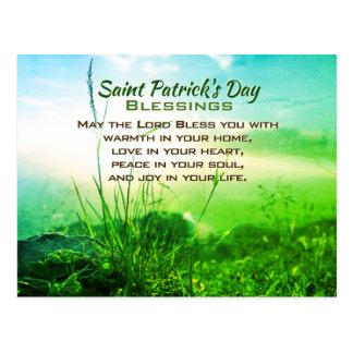 Postal Bendiciones del día de San Patricio, rezo irlandés