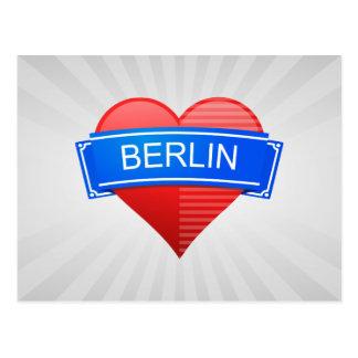 Postal Berlín corazón escudo