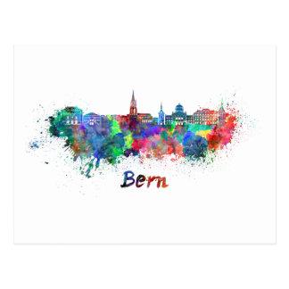 Postal Bern skyline in watercolor
