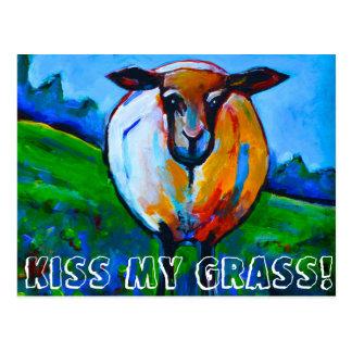 Postal ¡Bese mi hierba!