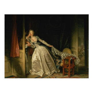 Postal Beso robado - Fragonard