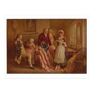 Postal Betsy Ross, 1777, JLG Ferris, c1930