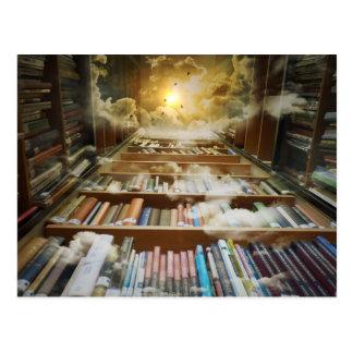 Postal Biblioteca en el cielo