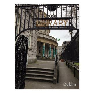 Postal Biblioteca nacional de Irlanda, Dublín, Irlanda