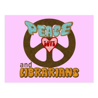 Postal Bibliotecarios del amor de la paz