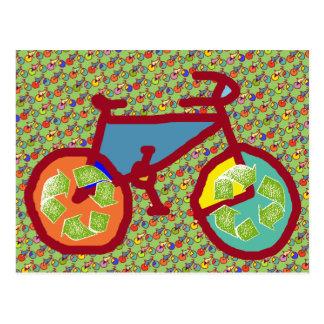 Postal bici, bicicleta; el biking/que completa un ciclo
