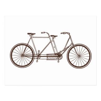 Postal Bici del vintage para dos