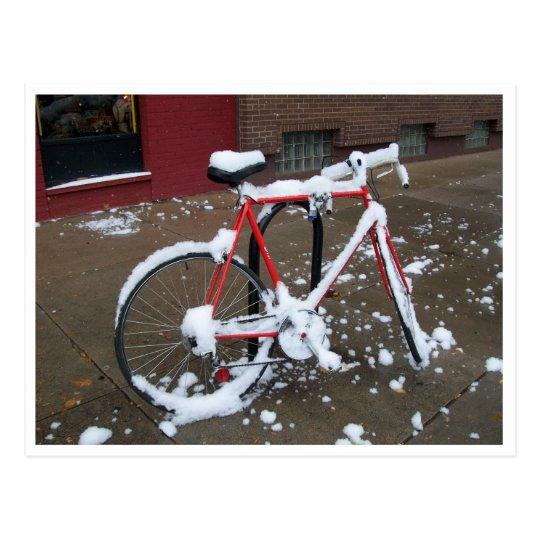 Postal Bici roja