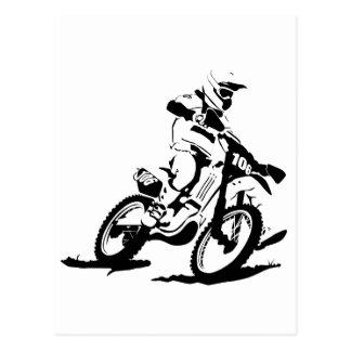 Postal Bici y jinete simples de Motorcross