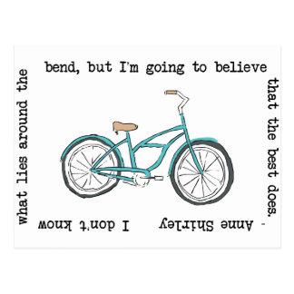 Postal Bicicleta de Anne Shirley- inspirada