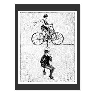 Postal Bicicleta del cable de alta tensión - acto de