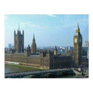 Postal Big Ben y casas del parlamento - Londres