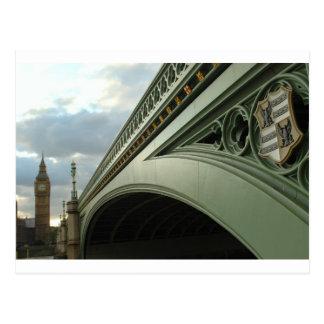 Postal Big Ben y puente de Westminster