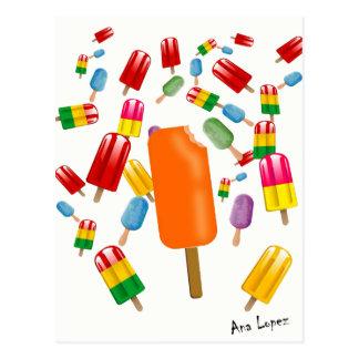 Postal Big Popsicle Chaos by Ana Lopez