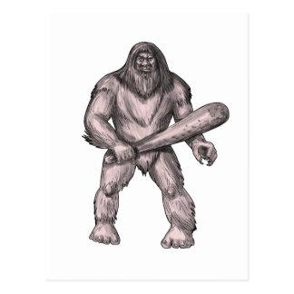 Postal Bigfoot que celebra el tatuaje derecho del club