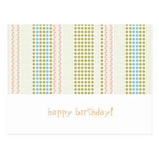 Postal birthdaycard