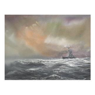 Postal Bismarck señala Prinz Eugen 0959hrs el 24 de mayo