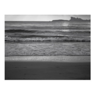 Postal Black and white seaside landscape