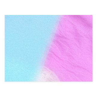 Postal blanca azul rosada del espacio en blanco