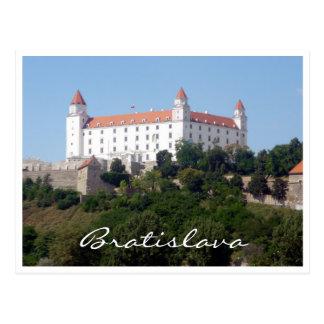 Postal blanco de Bratislava del castillo